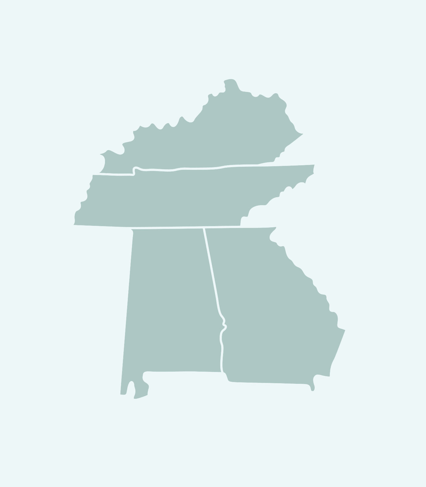 Sales Rep's Map of Tennessee, Kentucky, Alabama, Georgia Line Keren Hart
